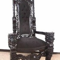 Ebony Lion King Chair - Furniture - Living Room Furniture - Chairs - Home Decor