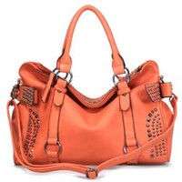 Amazon.com: 120885 Cuffu Online Close-Out High Quality Women/Girl Fashion Designer Work School Office Lady Student Handbag Shoulder Bag Purse Totes Satchel Clutches Hobos (orange): Clothing