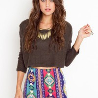 Santa Fe Stripe Skirt - NASTY GAL