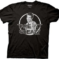 Workaholics - Mens Take It Sleazy T-Shirt in Black, Size: Medium, Color: Black