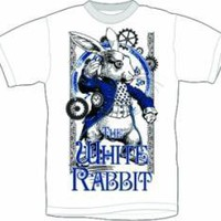 ROCKWORLDEAST - Alice In Wonderland, T-Shirt, White Rabbit