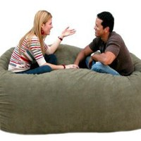Amazon.com: 7-feet Xx-large Olive Cozy Sac Foof Bean Bag Chair Love Seat: Home & Kitchen