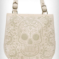 Cream Macabre Machined Bag | PLASTICLAND