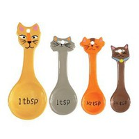 Boston Warehouse Frisky Business Measuring Spoon, Set of 4: Amazon.com: Kitchen & Dining