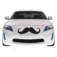 Cool Stuff - Mustache Car Decal , Vinyl Sticker, Large 2 PACK, 22""