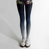 BZR Ombré tights in Navy