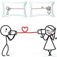 Amazon.com: BoldLoft &quot;Say I Love You&quot; Couple Pillowcases-romantic Valentines Gifts for Couples, Cute Valentines Day Gift Ideas, Good Couple Gifts for Valentines, Romantic Anniversary Gifts: Home &amp; Kitchen