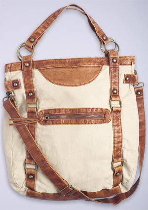 Large Canvas & PVC Crossbody