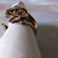 Gold Dinosaur Ring sz 5-6