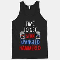 TIME TO GET STAR SPANGLED HAMMERED ( RED, WHITE, BLUE)