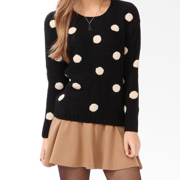 Textured Polka Dot Sweater