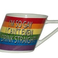 Amazon.com: Rainbow I&#x27;m So Gay/slant Mug, 14oz: Health &amp; Personal Care