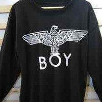 Unisex black sport boy london eagle sweater coat fashion bigbang