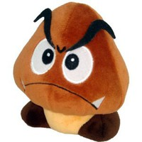 "Amazon.com: Super Mario Plush - 5"" Goomba Soft Stuffed Plush Toy Japanese Import: Toys & Games"