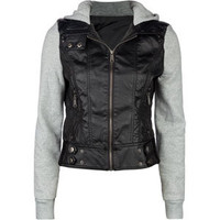 FULL TILT Fleece /Faux Leather Womens Hooded Jacket 180800100 | Jackets | Tillys.com