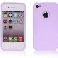 Alice Pastel Candy Pearl Slim Fit Case (w/ Logo Hole) for Apple iPhone 4 / 4S (All Carriers) - Purpl