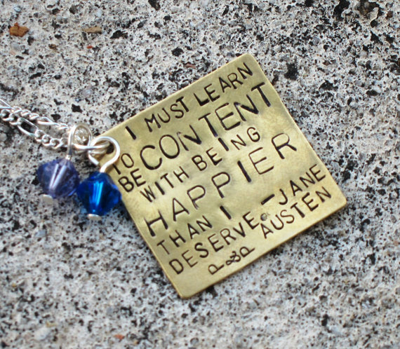 Custom Hand Stamped Square Necklace  your by DesignByAnyOtherName