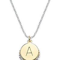 14k Gold and Silver Plated Crystal Initial Pendants - Necklaces - Jewelry & Watches - Macy's