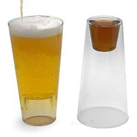 Amazon.com: Shot in the Pint Drinking Glasses, Set of 2: Kitchen & Dining