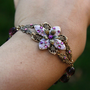 Flower bracelet  czech glass weddings bridal by AmberSky on Etsy