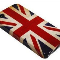 Retro Unique Slim UK National Flag Hard Back Case Cover For iPhone 4 4G 4s at&t verizon/BONA retail