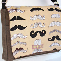 Heather Brown MUSTACHE Party MeSSENGER ipad Laptop Diaper BAG