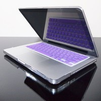 TopCase PURPLE Keyboard Silicone Cover Skin for Macbook 13