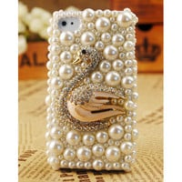 iPod Touch and iPhone4S 3GS Swan Case Cover Birthday Gift - GULLEITRUSTMART.COM