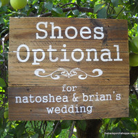 Custom SHOES OPTIONAL Sign on Repurposed by thebackporchshoppe