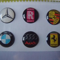 luxury car rolls royce, bmw, mercedes, ferrari, porsche, audio Home Button Sticker for Apple Ipad/ip