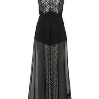 Black Lace Maxi Dress - Going Out