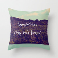 Somewhere Throw Pillow by Rachel Burbee | Society6