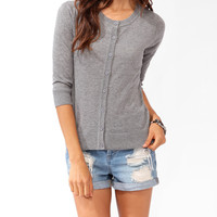 Basic 3/4 Sleeve Cardigan