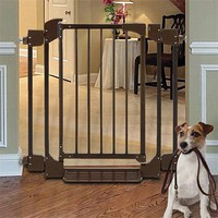 Metal Dog Gate with Door / Auto-Close Gate -- Orvis