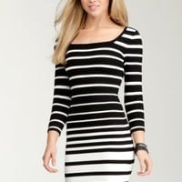 Amazon.com: bebe Wide Multi Stripe Sweater Dress: Clothing