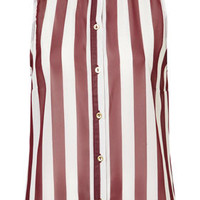 Sleeveless Stripe Shirt - Tops  - Clothing