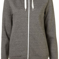 Grey Marl Hooded Top - Jersey Tops  - Clothing