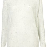 Speckle Neppy Panel Sweat - Jersey Tops  - Clothing