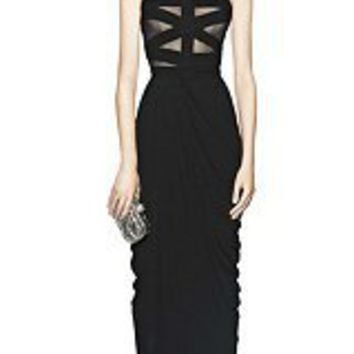 Alexander McQueen : FLOOR LENGTH HALTERNECK DRESS