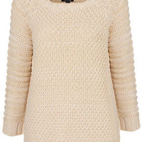 Knitted Chunky Stitch Jumper - Knitwear  - Clothing