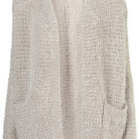 Knitted Fluffy Stitch Cardigan - Knitwear  - Clothing