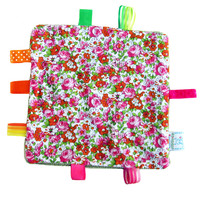 Taggie Blanket - Summer Flowers Wit.. on Luulla