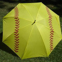 Softball Girls Sports Umbrella 60 Inch 2 Adults