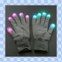 Buy One pair of 7 Mode LED Gloves Rave Light Finger Lighting Glow Flashing Gloves Funny Gift, freeshipping&wholesale&retail on Aliexpress.com