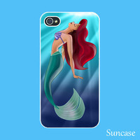 iPhone 4 case --The little Mermaid , Ariel iPhone 4S case,  plastic hard case or silicone rubber case