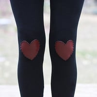 My Leather Heart Leggings // size small