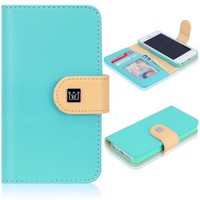 CaseCrown Pathway Wallet Case (Cloud Blue) for Apple iPhone 5