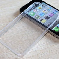 Clear Crystal Slim Ulera Thin Hard Back Case Cover For iPhone 4 4S Verizon AT&T