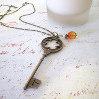 Skeleton Key Necklace - Pendant by 636designs