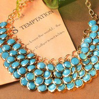 Fashion Layered Gem Beads Bib Necklace at Online Fashion Jewelry Store  Gofavor
